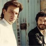 Με τον Βαγγέλη Δεληκούρα, δάσκαλο και φίλο, που μαζί γράψαμε τα πρώτα μας τραγούδια.