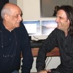 2007. Με τον Δημήτρη Μητροπάνο στην ηχογράφηση του σάουντρακ Για την Καρδιά ενός Αγγέλου του Στράτου Μαρκίδη.
