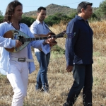 2013. Με τον Νίκο Μακρόπουλο στα γυρίσματα της ταινίας Λάρισα Εμπιστευτικό.